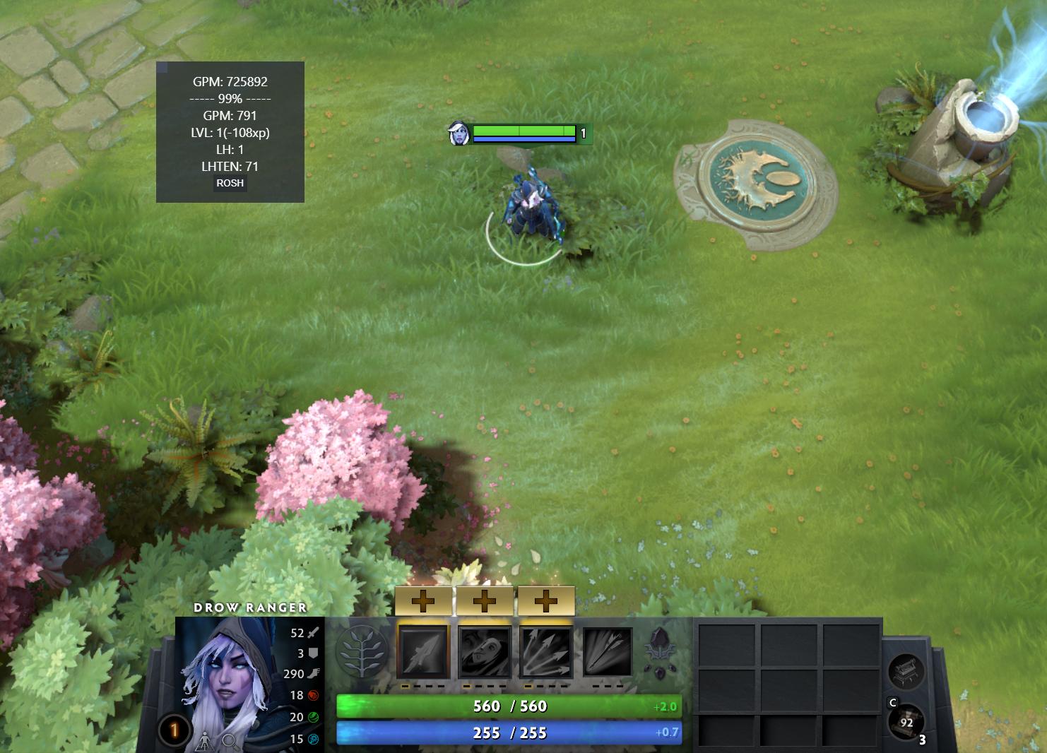Пример использования в демо режиме игры