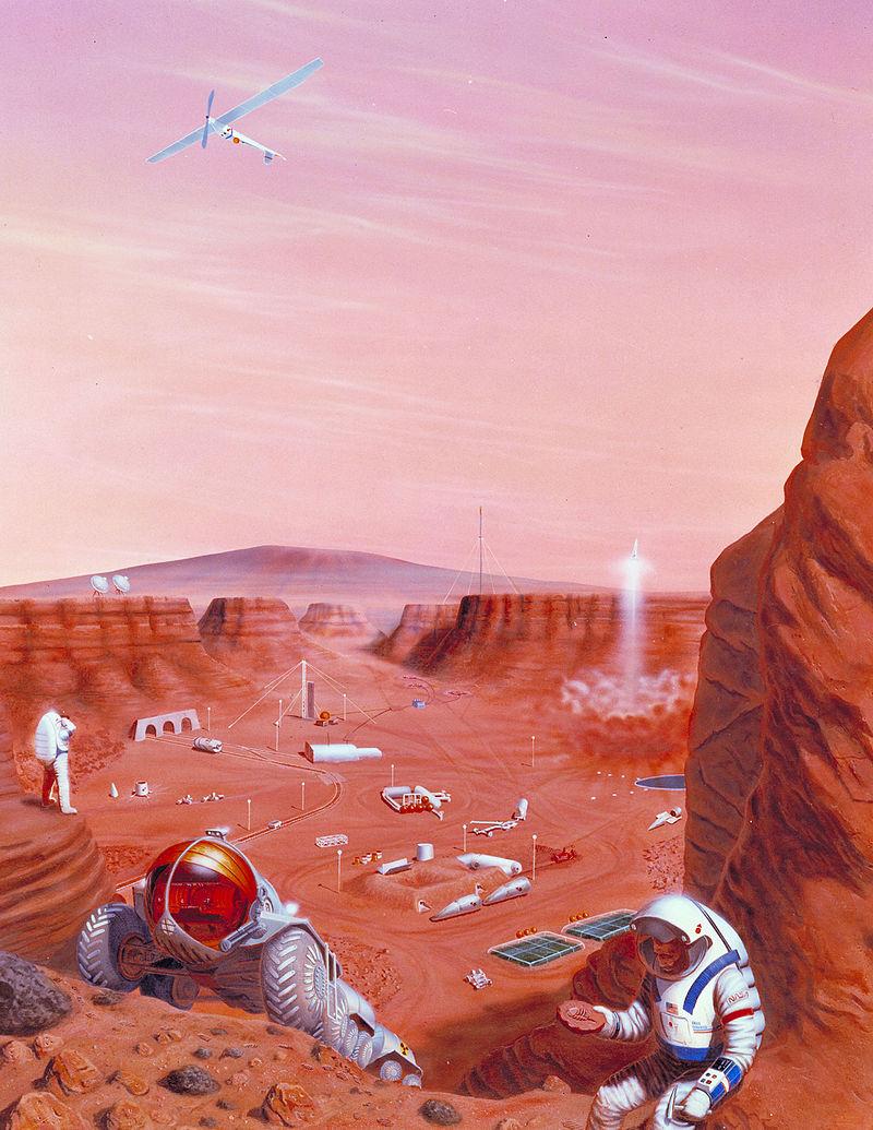 Марсианская колония в представлении художника. Источник: NASA