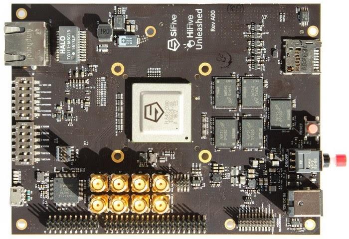 Плата на базе RISC-V от SiFive, способная работать под Linux