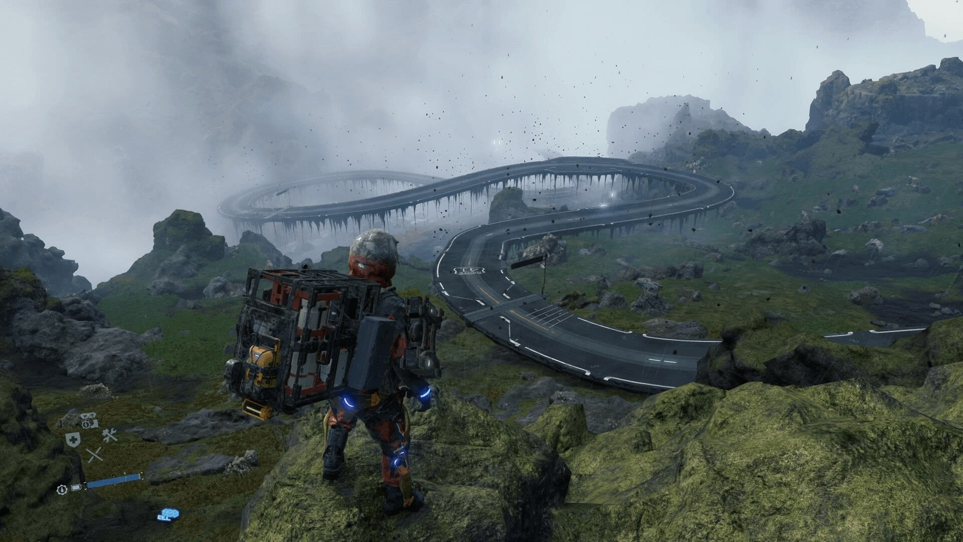 The chaotic and dangerous environment of Death Stranding turns into a convenient system that helps the player complete orders.