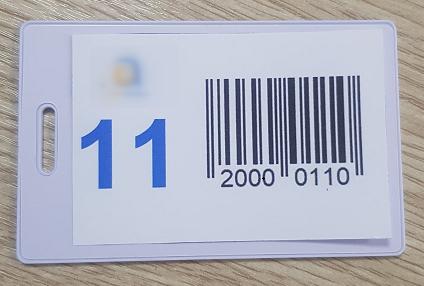 Примерка штрихкода для наклеивания на магнитную карту