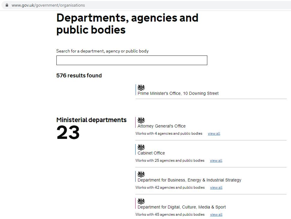 Веб-империя правительства UK все во имя человека, для блага человека