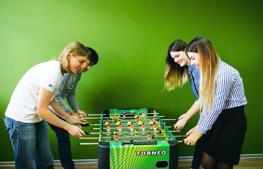 Настольный футбол в самарском офисе