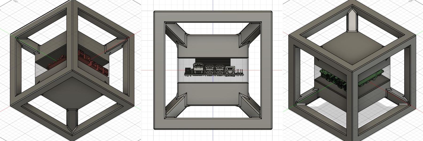 Tru3bic0n  корпус в кубической орбитальной пространственной раме