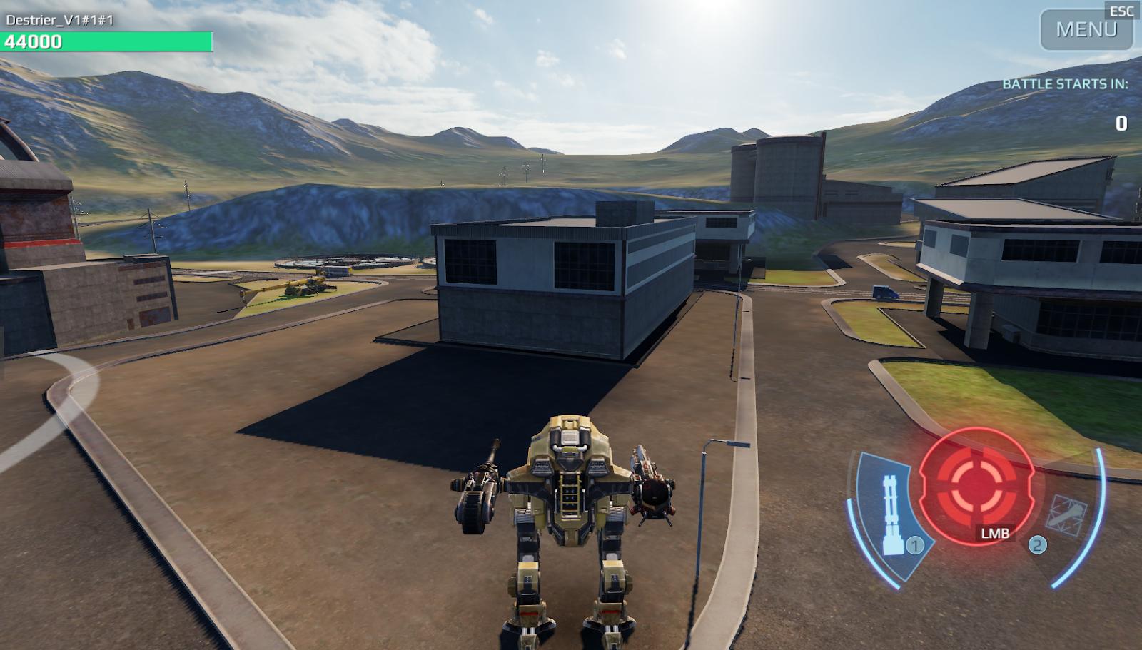 Скриншот с War Robots Remastered, качество Ultra Low