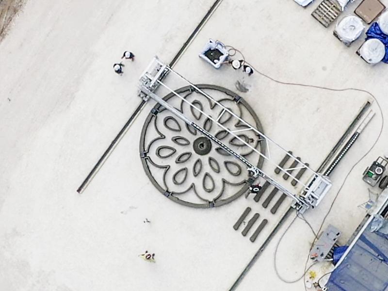 Процесс печати, вид сверху, фото ICON