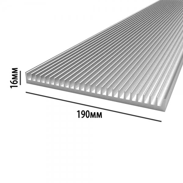 Например 30см вот такого радиатора хватит, что бы закрепить на его основании комплектующие