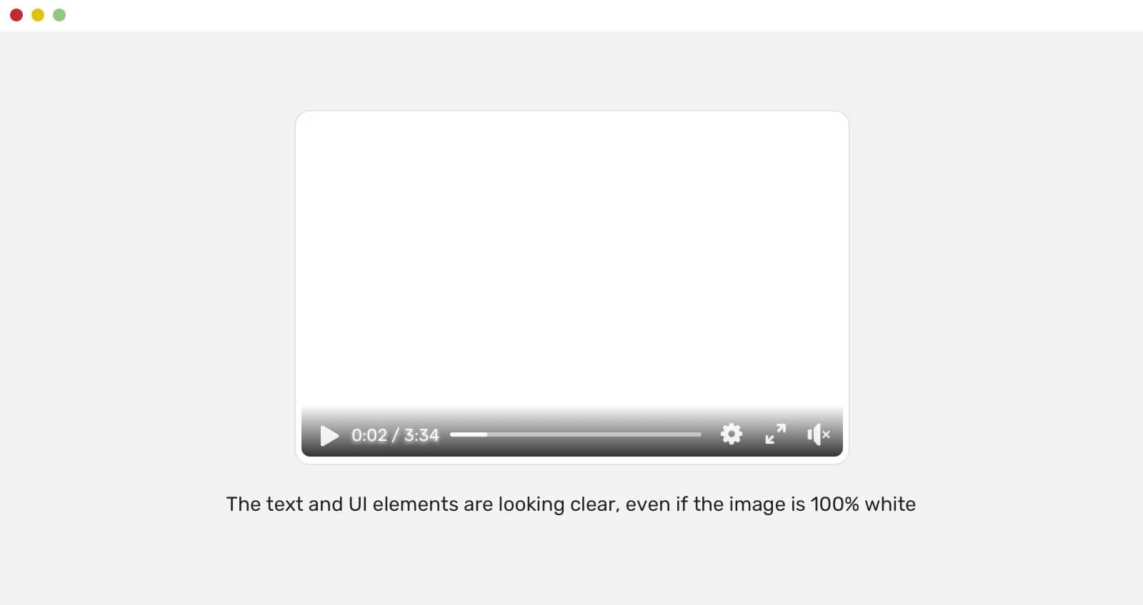 Текст и элементы интерфейса хорошо читаются, даже когда изображение полностью беое