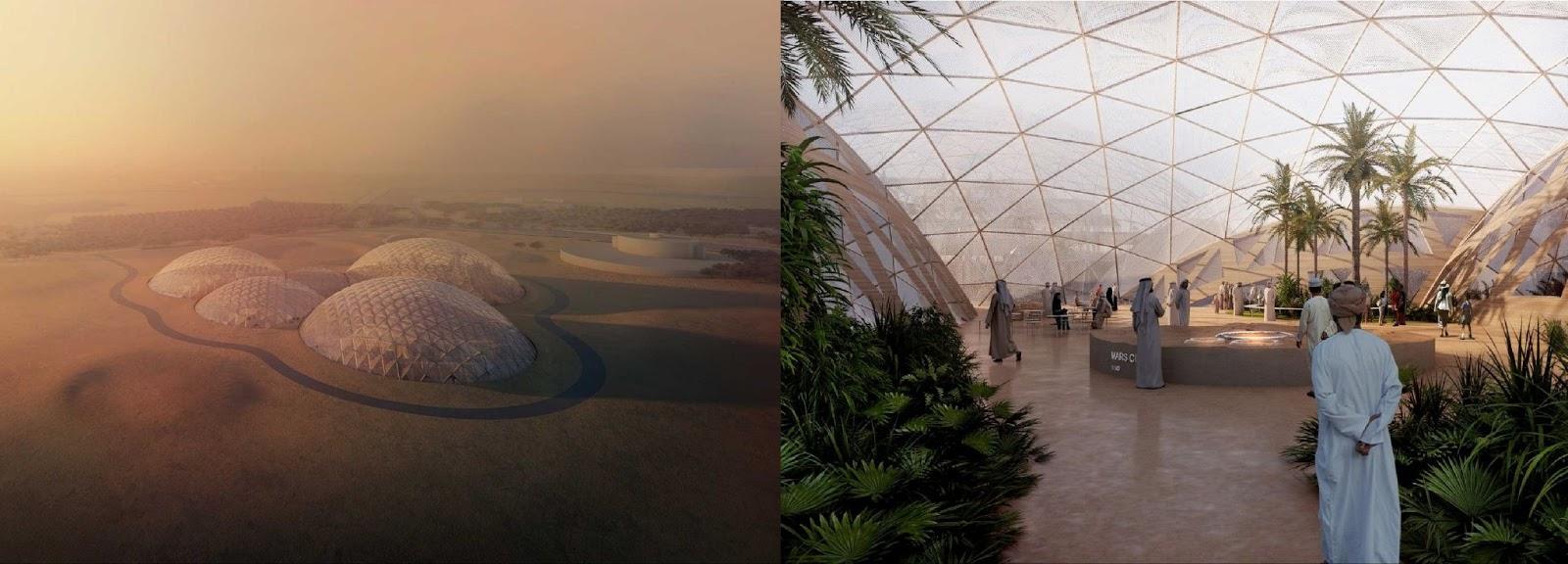 Визуализация концепции Mars Science City