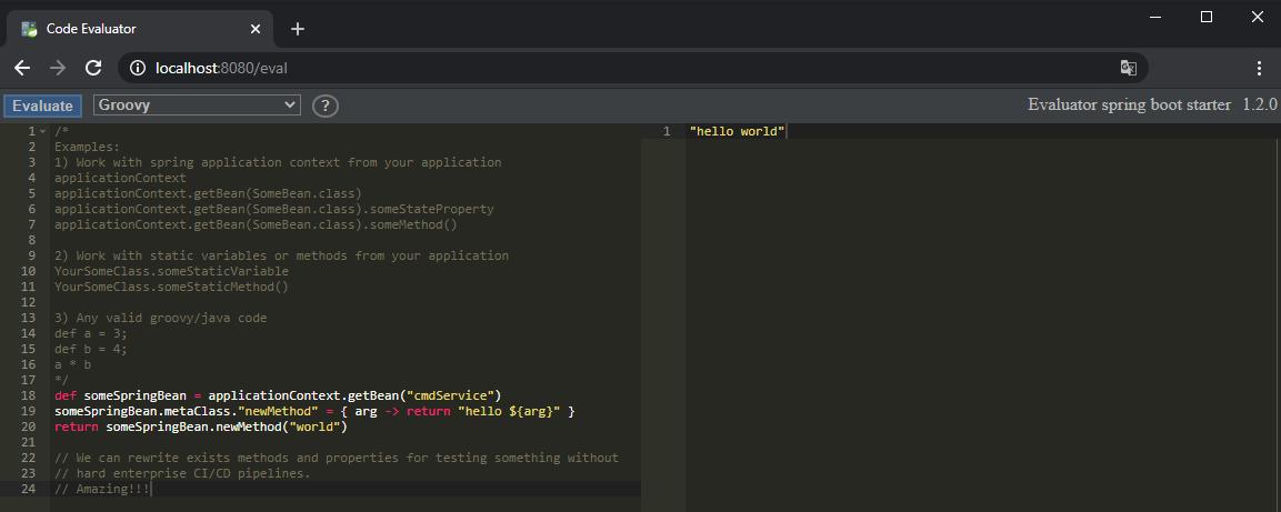 Code evaluation как средство отладки
