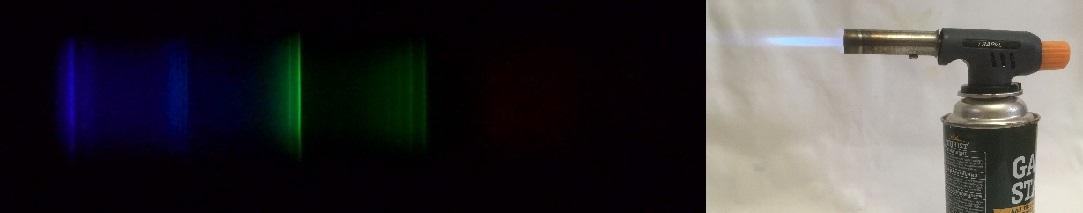 Спектр пламени газовой горелки