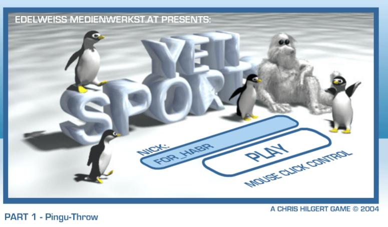 Одна из культовых игр, Yetisports: Ylympics