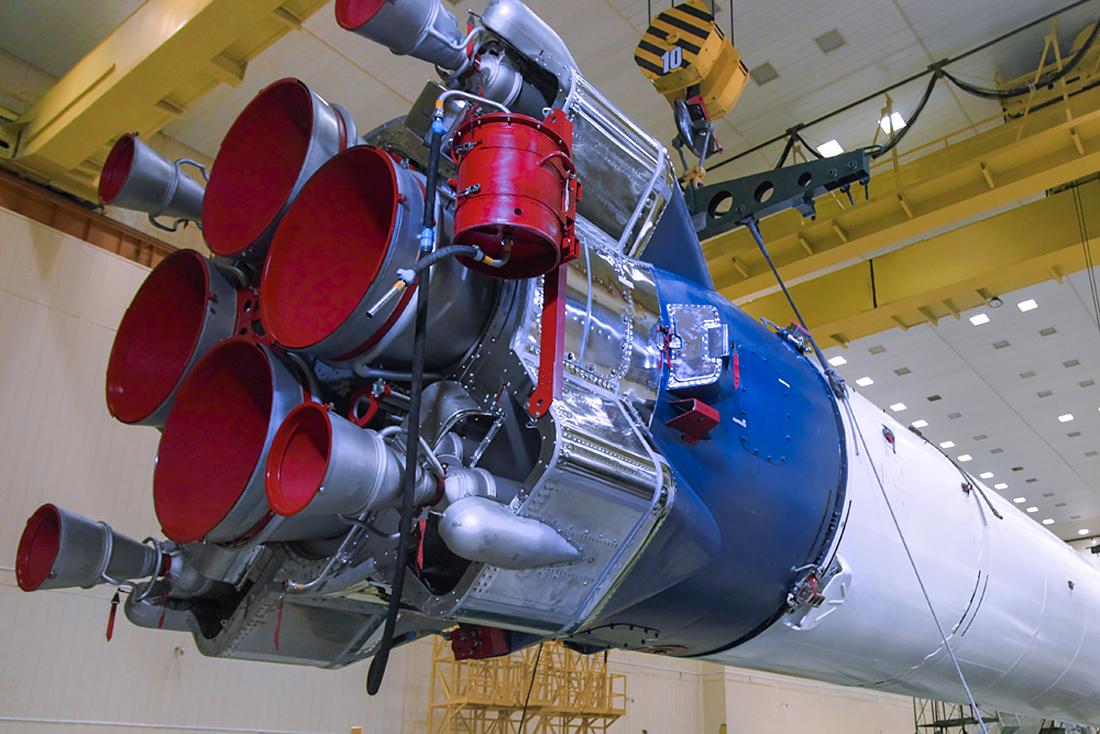 Двигатель РД-108 на ракете  Союз-2.1а . Фото: Роскосмос/GK Launch