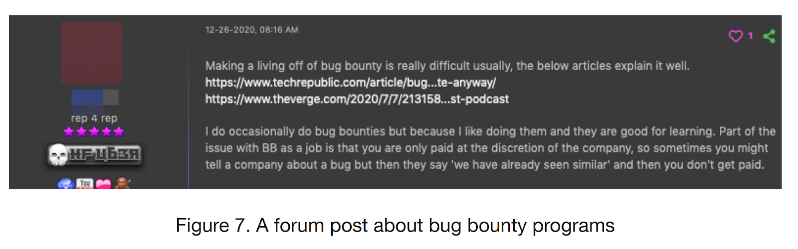 Пост с критикой программ Bug Bounty. Источник: Trend Micro