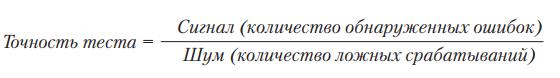 Рис. 3 Формула точности теста