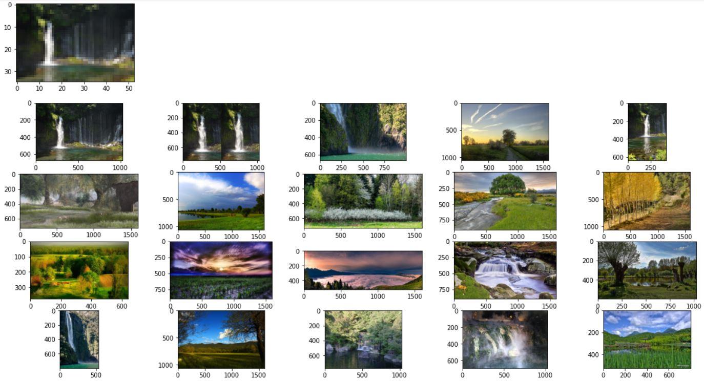 Поиск сильно пикселизированного изображения (ResNet50)