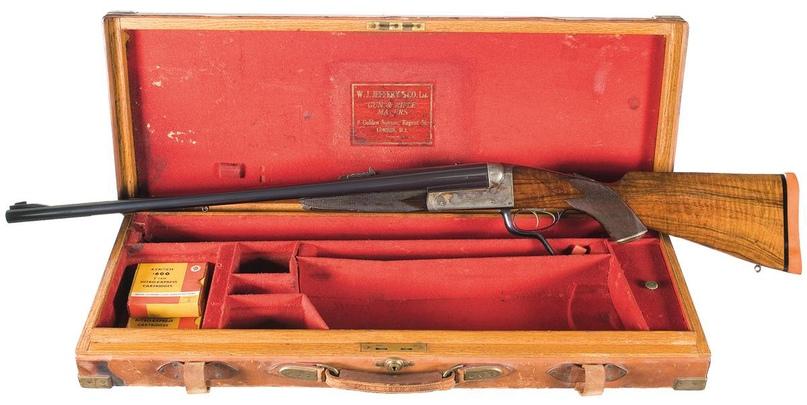 Двухствольная винтовка W.J. Jeffrey .600 Nitro Express в заводском кейсе
