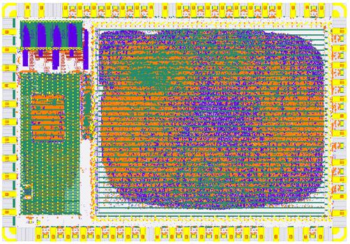 Интегральная схема SHA3 на технологии SKY130, https://efabless.com/projects/4
