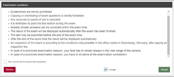 Внимательно читаем условия экзамена