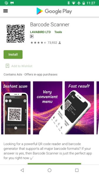 Приложение Barcode Scanner в Google Play заразило 10 млн пользователей одним обновлением