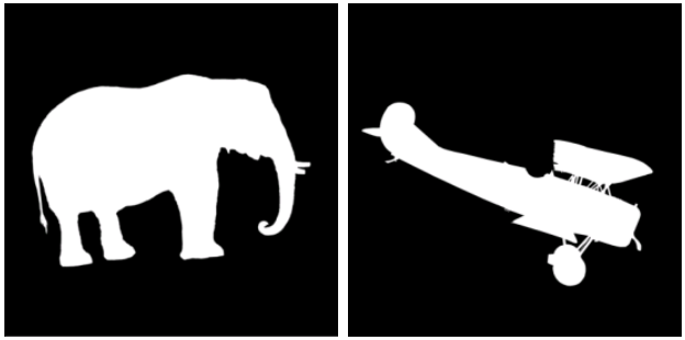 Рис. 2. Примеры масок для генерации синтетических изображений деталей