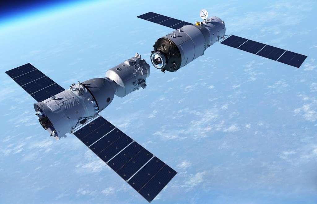 """Стыковка """"Шэньчжоу-11"""" с орбитальным модулем """"Тяньгун-2"""". Источник: CAST"""