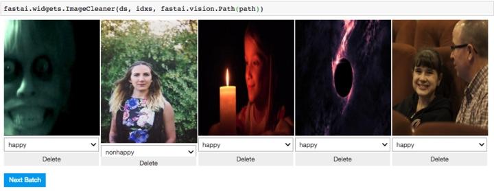 Примеры изображений по запросам happy и unhappy