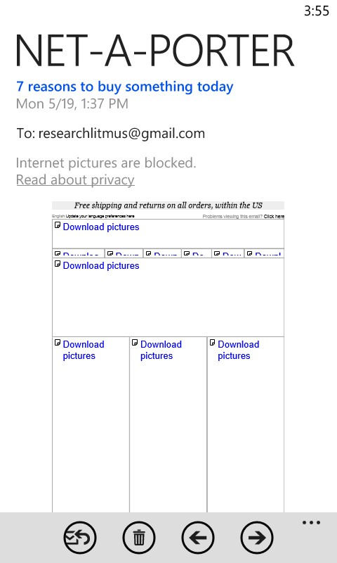 Получатель видит только предложения загрузить изображение – альтернативный текст картинки не отображается.