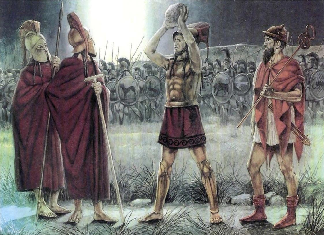 Командир питанетов бросает камень, голосуя против отступления