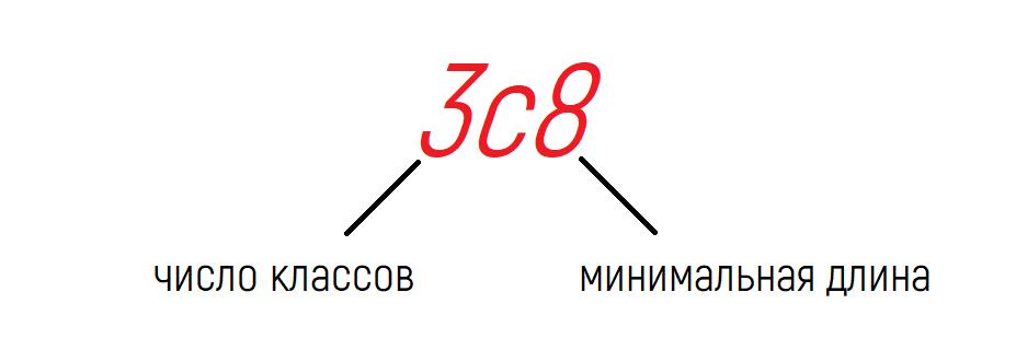 Эта политика требует пароль, который содержит три класса символов из четырех.