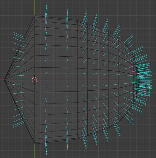 Это - тестовая модель. Направление потока - справа налево