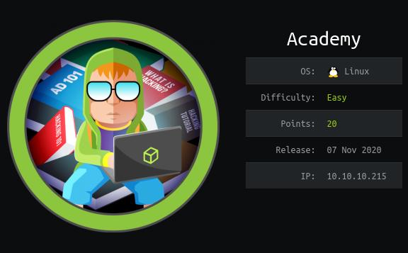 HackTheBox. Прохождение Academy. RCE в Laravel и LPE через composer