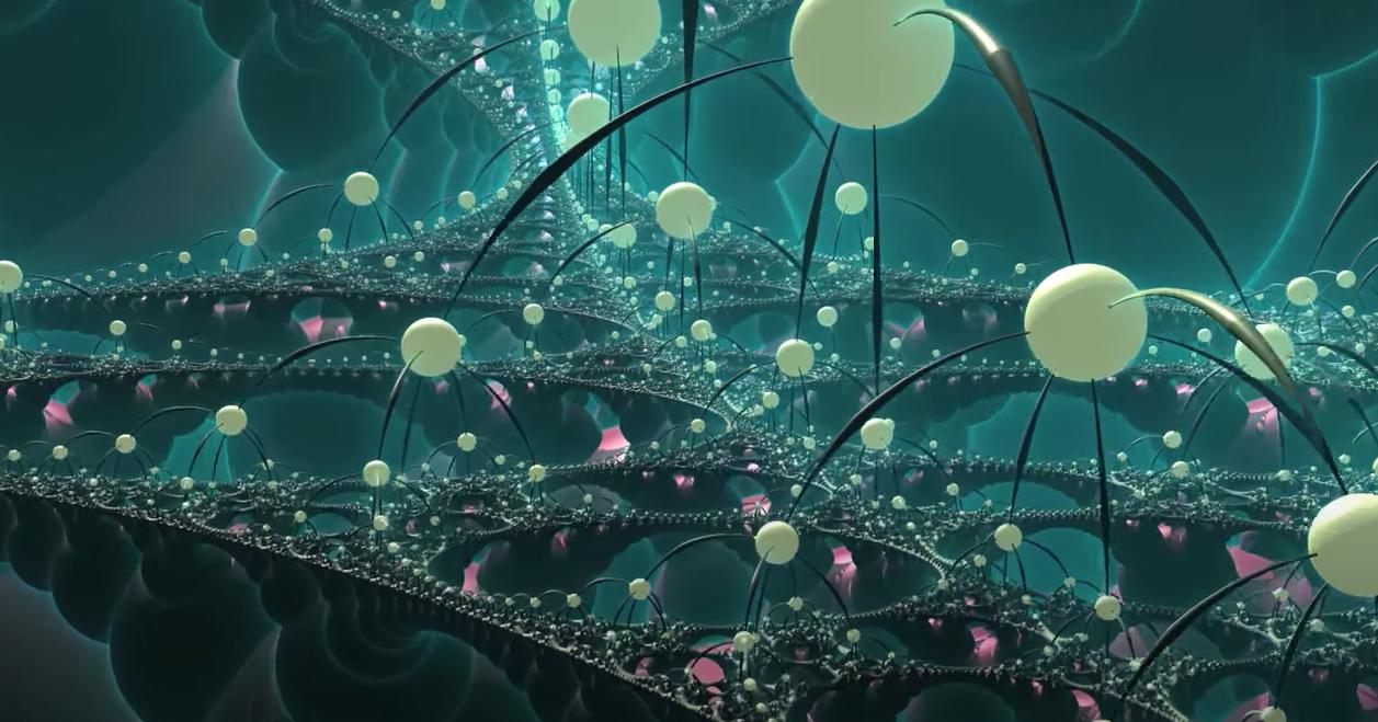 Возникновение времени и пространства в математических вселенных