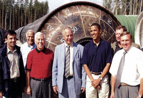 2005 год, Пермь. Сенатор Барак Обама с первым визитом в Россию - проверкой выполнения программы Нанна-Лугара.