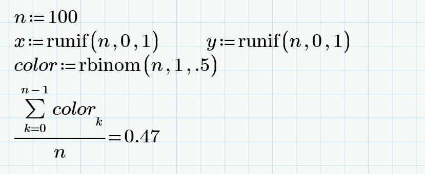 Генерация псевдослучайных векторов в Mathcad Express