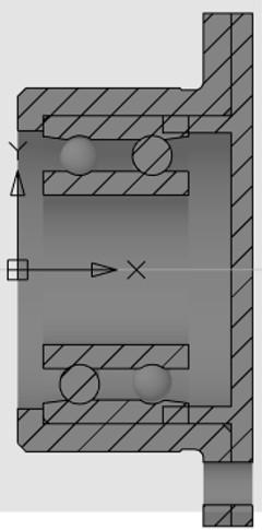 Рис. 25. Результат редактирования сборки после указания радиуса подшипника