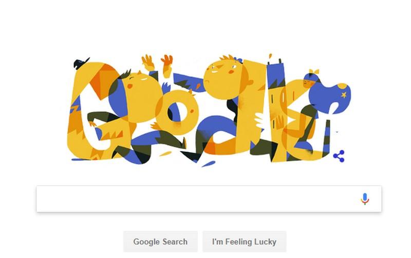 Дудл от Google ко Дню независимости Украины