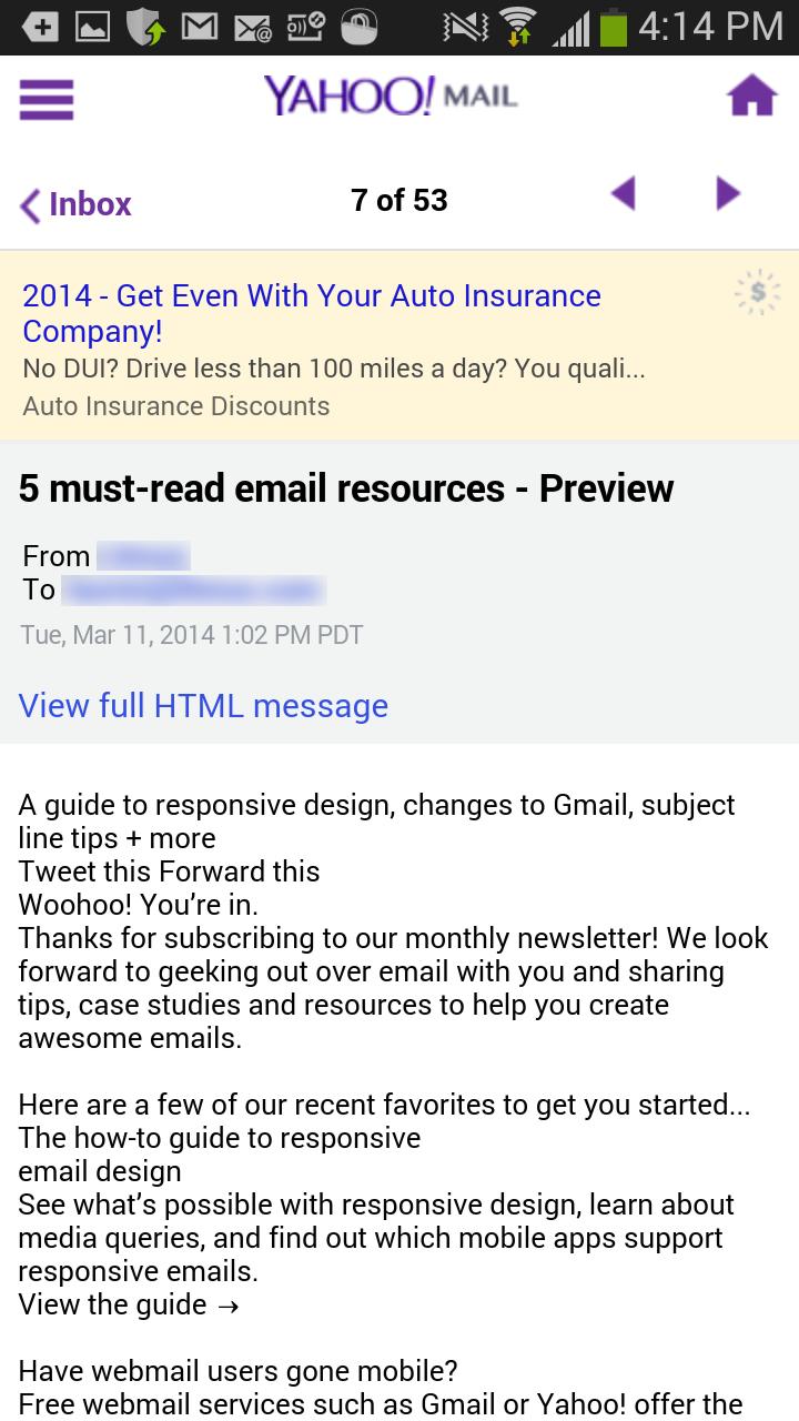 Никаких картинок – только HTML-текст!