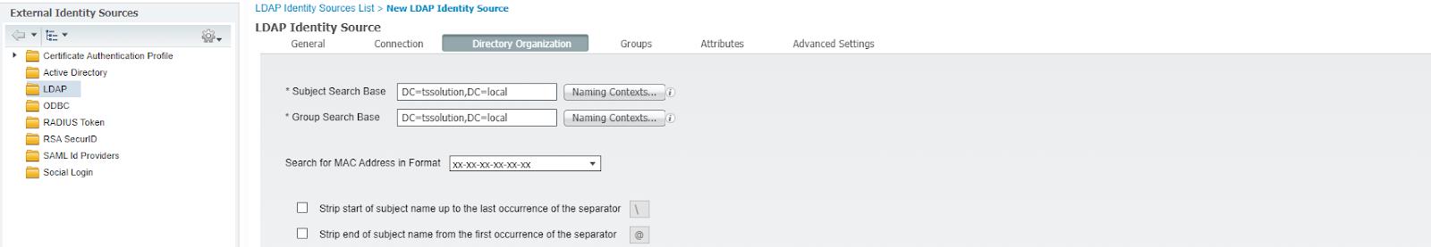 Рисунок 7. Определение каталогов, откуда подтянуться группы пользователей