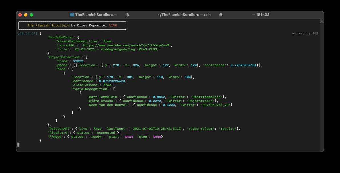 Часть кода для FFmpeg. Источник: driesdepoorter.be