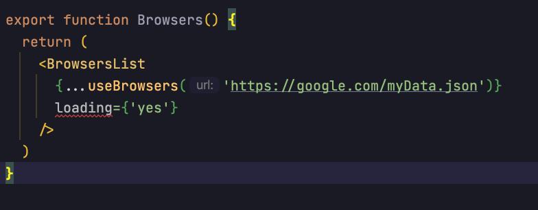 TypeScript проверяет правильность пропсов.