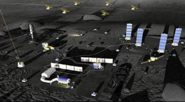 Как может выглядеть предлагаемая китайско-российская международная лунная исследовательская станция. (Предоставлено: CNSA)