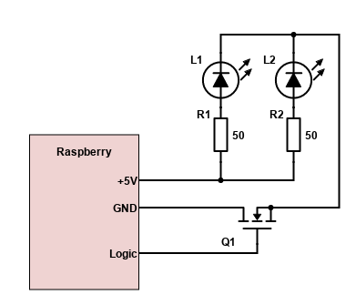Схема управления пульсацией группы ИК-светодиодов