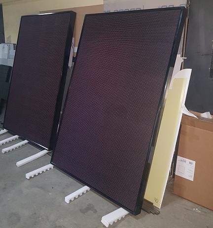Фото от российского производителя LED-панелей (1,5 х 2 м), готовых к отправке на завод