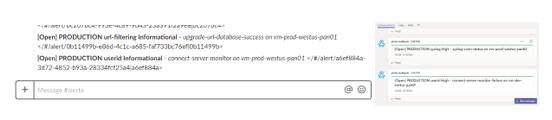 Alerta.io plugins: Slack (on left) and Teams (on right)