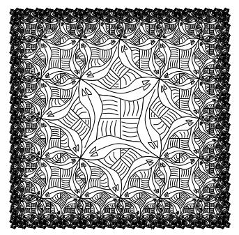 Образец рисунка, сделанный методом функциональной геометрии