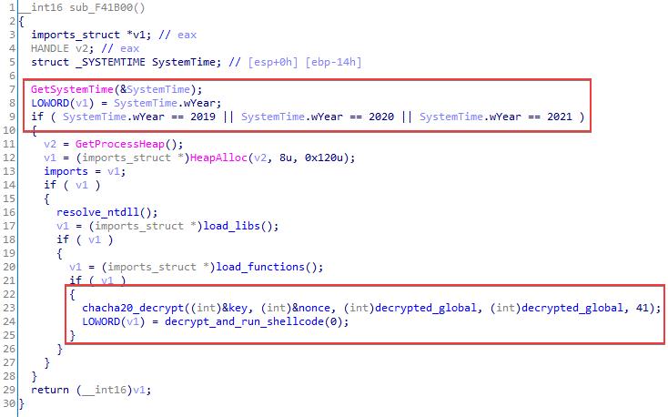 Bootloader main function code
