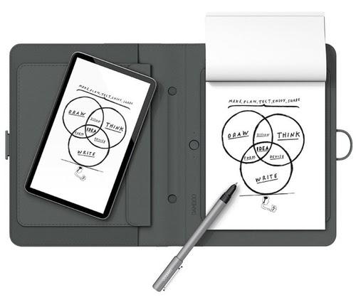 Знакомьтесь, графический планшет Wacom Bamboo Spark с блэкджеком с блокнотом и оцифровкой написанного.