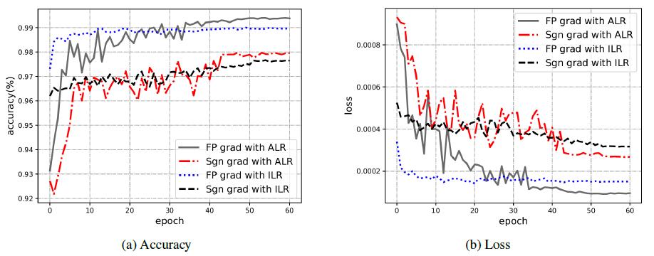 Кривая обучения AdderNets с использованием различных схем оптимизации