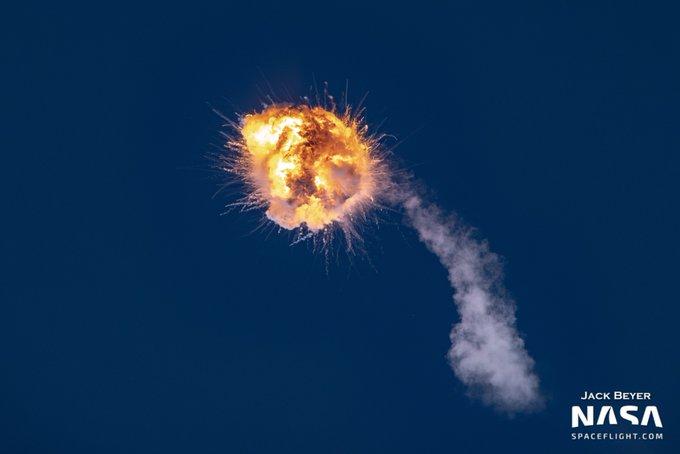 Момент взрыва ракеты Alpha